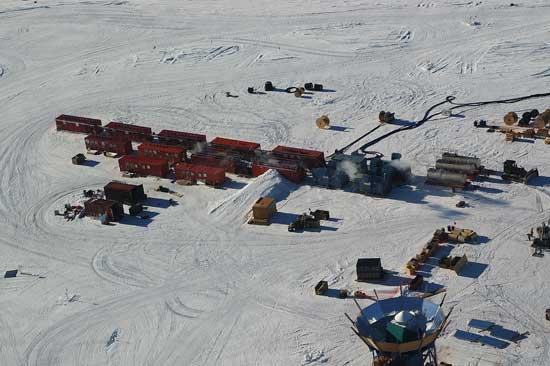 experimento Icecube. Antártida
