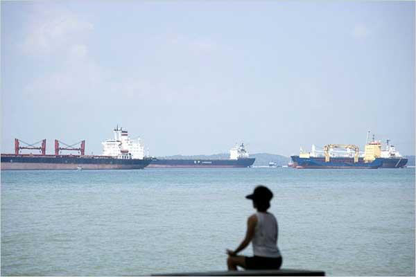 flota buques en Singapur