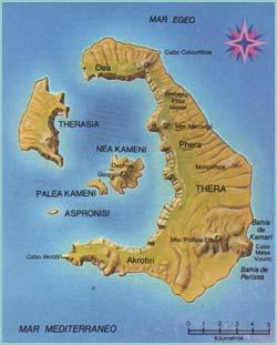 isla de Thera, Mediterráneo