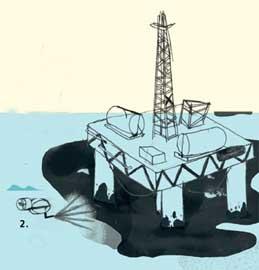 limpieza petróleo, dispersantes bajo la superficie