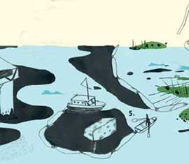 limpieza petróleo, materiales absorventes