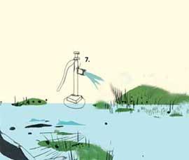 limpieza petróleo en las marismas