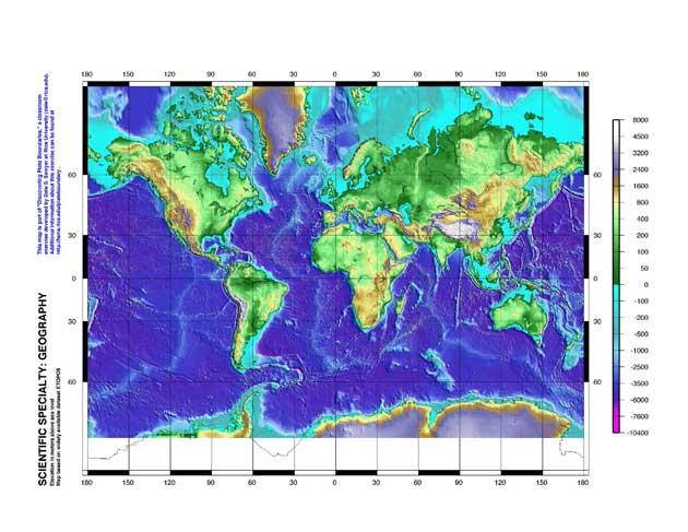mapa batimétrico mundial