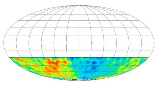 mapa del cielo hemisferio sur, Icecube