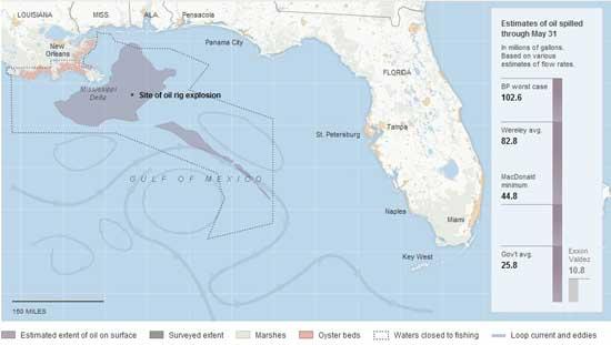 mapa dimensión vertido Golfo México 31-05-2009