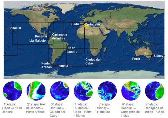 mapa expedición Malaspina 2010