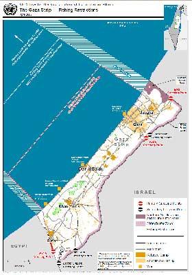 mapa franja de Gaza