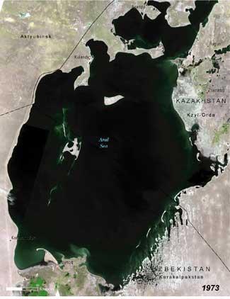 Mar de Aral, 1973