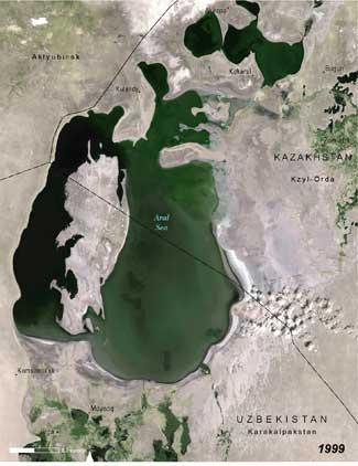 Mar de Aral, 1999