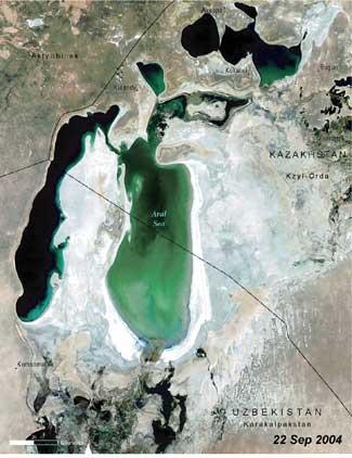 Mar de Aral, 2004