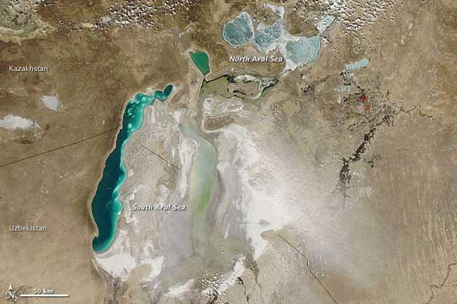Mar de Aral, 2010