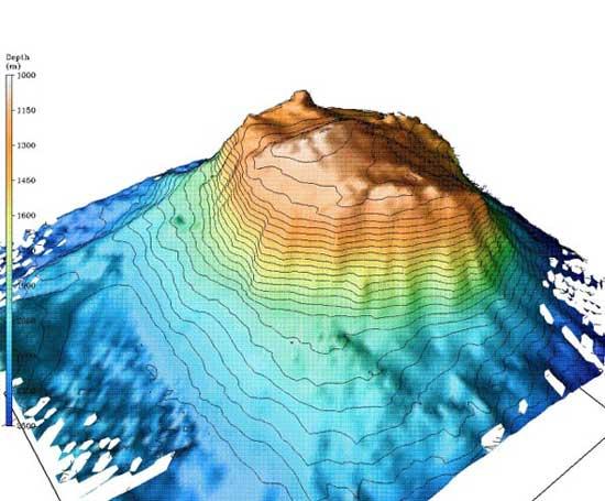 montaña submarina del oso