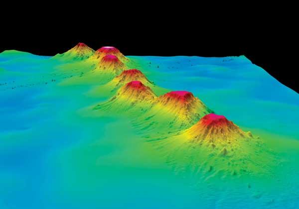 montañas submarinas oceanografía