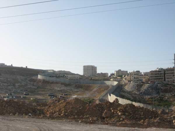 muro que separa la Jerusalen judia de la musulmana