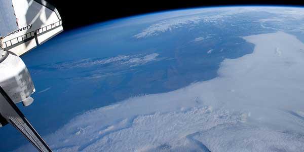 norte de Europa desde la Estación Espacial Internacional