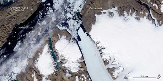 formación iceberg glaciar Petermann