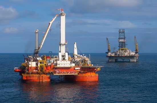 plataformas de perforación de pozos de alivio, Golfo México