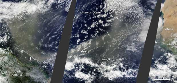 polvo del Sahara nutre el Amazonas