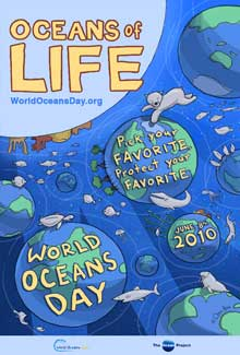 poster Día Mundial de los Océanos 2010