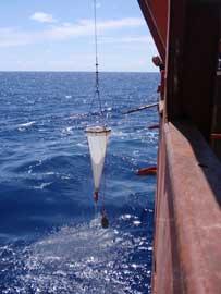 red de pesca de zooplancton