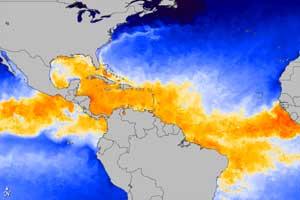 temperaturas en el Océrano Atlántico