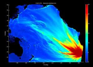 amplitud de las olas tsunami chile febrero 2010