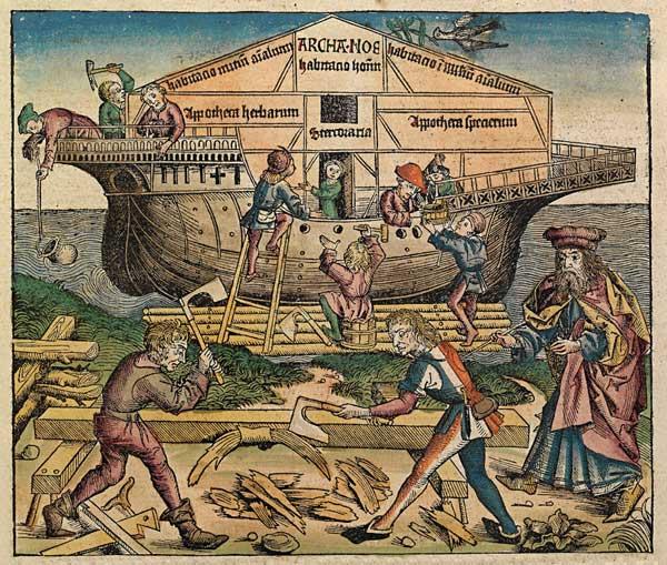 el Arca de Noé en la Crónica de Nuremberg