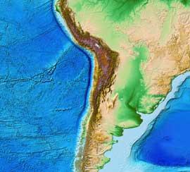 batimetría costas de Chile