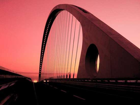 puente de Calatrava en Reggio Emilia