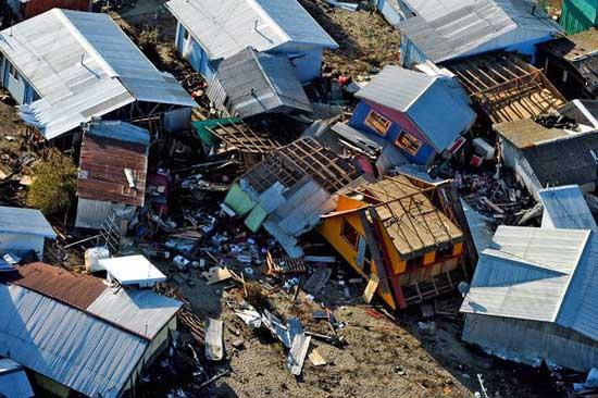 casas derruidas, Tubul - Chile