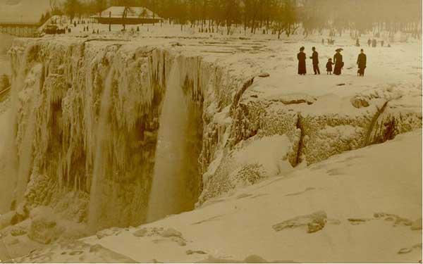 cataratas Niágara congeladas en 1911