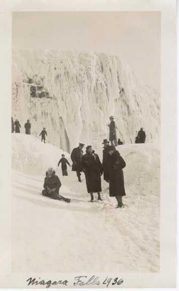 cataratas Niágara congeladas, 1936