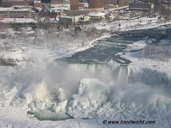 cataratas Niágara lado USA en invierno