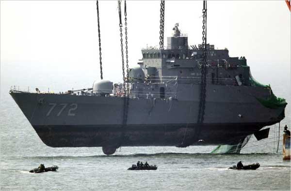 Corbeta Cheonan, marina Corea del Sur
