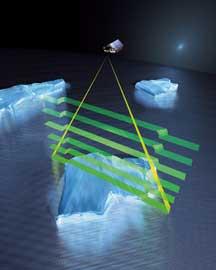 cryosat-2, radar mide el hielo