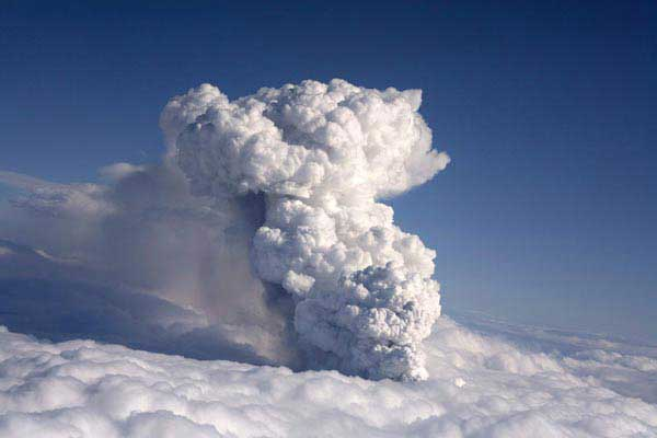 erupción volcán Eyjafjallajokull, Islandia