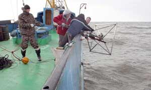 ESAS, arrojando sonar para medidas