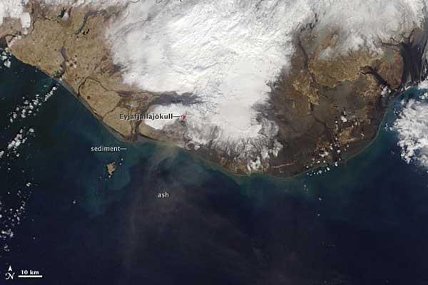 volcán Eyjafjallajökull, 21-04-2010