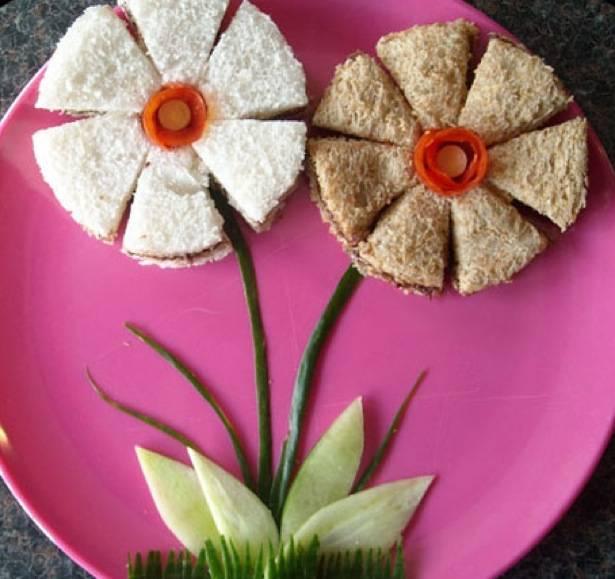 Sándwiches floridos