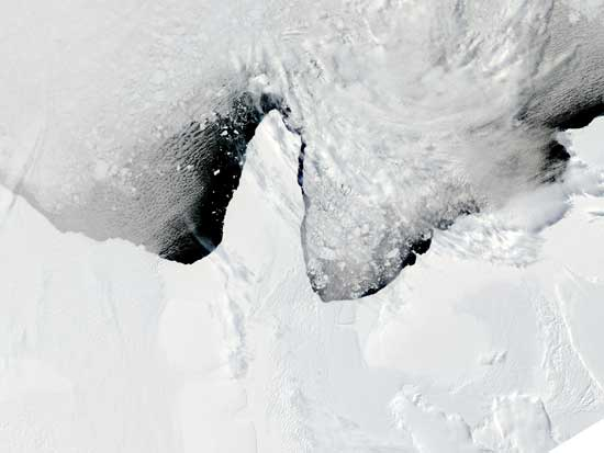 Formación Icebergs Polo Sur