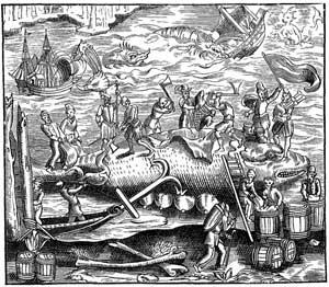 grabado de caza de ballenas