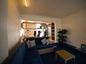 h2office interior, detalle de hall