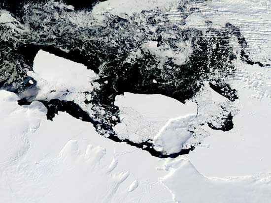 Icebergs glacial Mertz 8 de marzo 2010