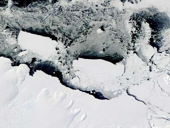 Icebergs glacial Mertz 11 de marzo 2010
