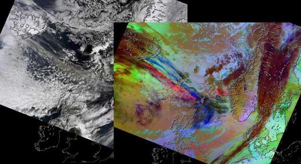 imagen modis de la NASA volcán Eyjafjallajökull, Islandia