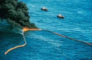 incendio del petróleo en el Golfo de México