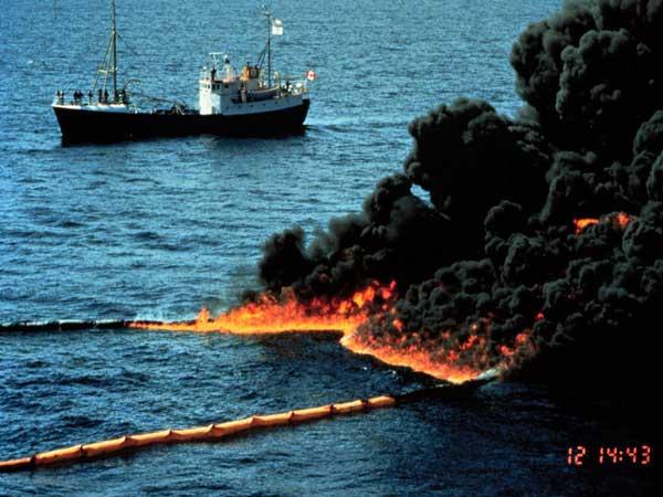 incendio de petróleo Golfo México