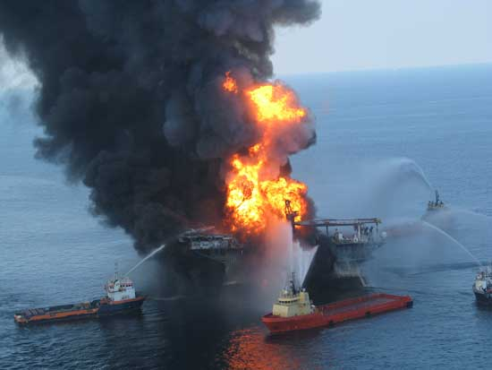 incendio plataforma petrolífera Deepwater Horizon