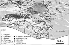 Islandia, volcán Katla - zoom