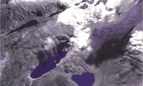 lago 513 de glaciar del nevado Hualcan